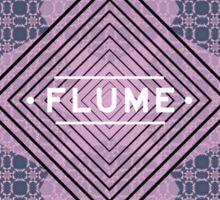Flume - quadri font Sticker