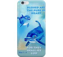 Blessed Are The Pure In Heart iPhone Case/Skin