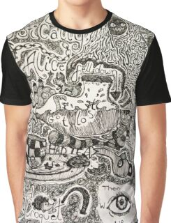 Alice in Wonderland Sketchbook page 2 Graphic T-Shirt