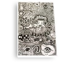Alice in Wonderland Sketchbook page 2 Canvas Print