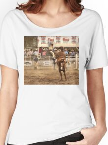 Rodeo Cowboy is Thrown from his Horse Women's Relaxed Fit T-Shirt