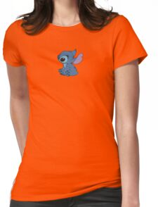 Sitting Stitch Womens Fitted T-Shirt