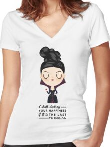 Regina Evil Queen - Happiness quote Women's Fitted V-Neck T-Shirt