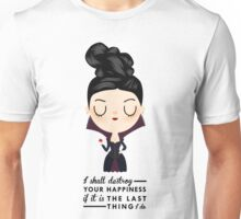 Regina Evil Queen - Happiness quote Unisex T-Shirt