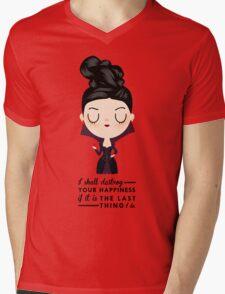 Regina Evil Queen - Happiness quote Mens V-Neck T-Shirt