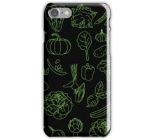 Vegan Vegetables Healthy Green Food Graphic Tee Doodle iPhone Case/Skin