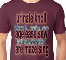 Spellcheck Design Unisex T-Shirt