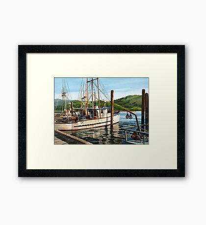 Yaquina Bay Oregon Coast Framed Print