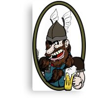 Beer-drinking viking Canvas Print