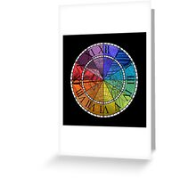 Color Wheel Clock Greeting Card