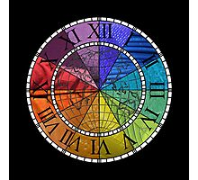 Color Wheel Clock Photographic Print