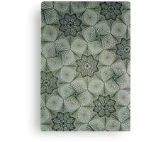 Greyscale pattern Canvas Print
