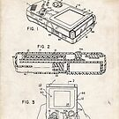 1993 Nintendo Gameboy Video Game Invention Patent Art by Steve Chambers