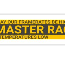 Large GLORIOUS PC Master Race Logo Banner Icon Sign Sticker