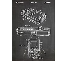 1993 Nintendo Gameboy Video Game Invention Patent Art, Blackboard Photographic Print