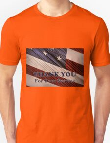 USA Military Veterans Patriotic Flag Thank You Unisex T-Shirt