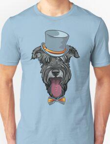 Hipster dog Schnauzer  Unisex T-Shirt