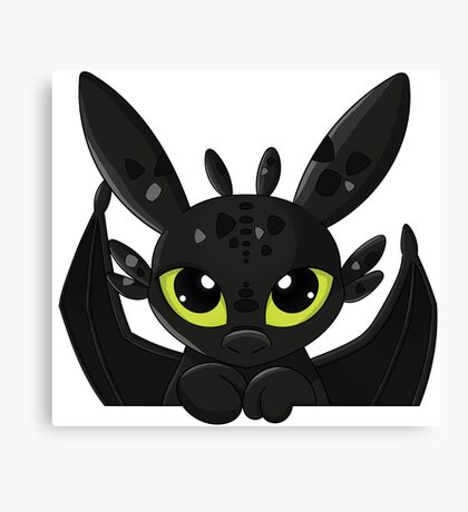 How To Train Your Dragon, Toothless cute pocket Canvas Print