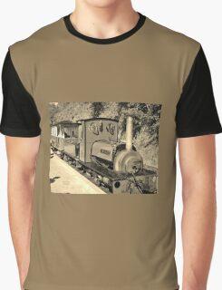 LAUNCESTON STEAM RAILWAY LOCOMOTIVE COVERTCOAT IN SEPIA Graphic T-Shirt