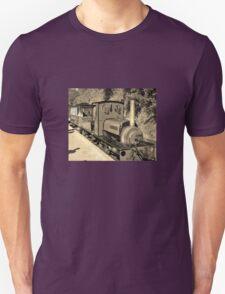 LAUNCESTON STEAM RAILWAY LOCOMOTIVE COVERTCOAT IN SEPIA Unisex T-Shirt