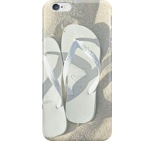 Flip Flops in the Sand iPhone Case/Skin