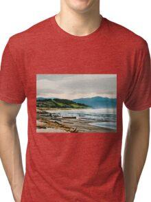 Pacific City Oregon Coast Tri-blend T-Shirt