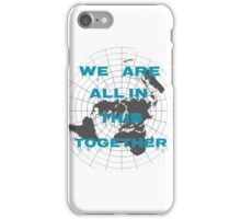 Flat earth the lie we live iPhone Case/Skin
