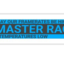 Blue GLORIOUS PC Master Race Logo Banner Icon Sign Sticker