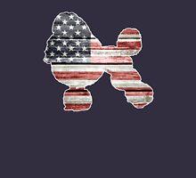 Patriotic Poodle, American Flag Unisex T-Shirt