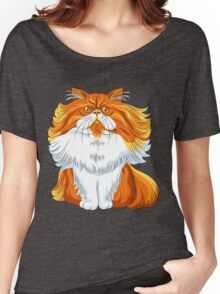 Cute red fluffy Persian cat  Women's Relaxed Fit T-Shirt