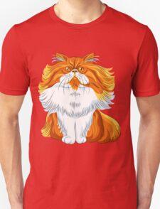 Cute red fluffy Persian cat  T-Shirt