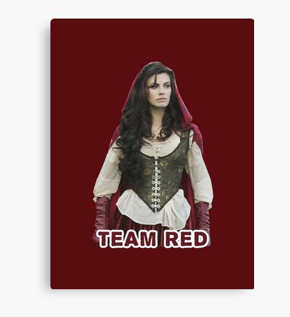 Team Red OUAT Canvas Print