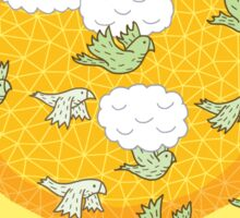 flock of wild parrots Sticker