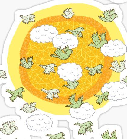 flock of wild parrots Sticker
