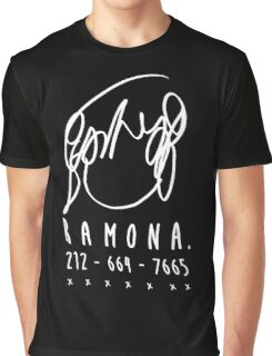 ♥♥♥ SCOTT PILGRIM RAMONA FLOWERS - DO YOU KNOW THIS ONE GIRL WITH HAIR LIKE THIS? VER2 WHITE ♥♥♥ Graphic T-Shirt
