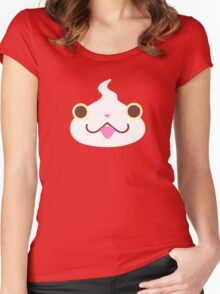 Jibanyan Face Women's Fitted Scoop T-Shirt