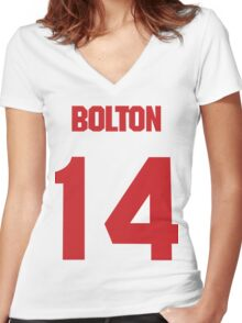 High School Musical Bolton 14 Women's Fitted V-Neck T-Shirt