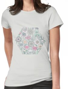 Wildflowers doodles Womens Fitted T-Shirt