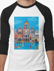 Amsterdam canal and houses Men's Baseball ¾ T-Shirt