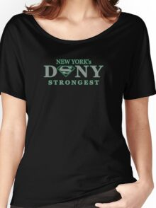 DSNY - New York's Strongest in grey  Women's Relaxed Fit T-Shirt
