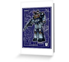 G1 Soundwave Greeting Card