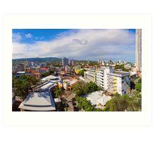 Cebu City Mountain View Panorama Art Print