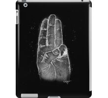 Three Finger Salute (white) iPad Case/Skin