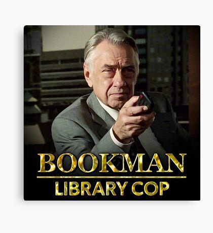Bookman Library Cop Canvas Print