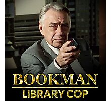 Bookman Library Cop Photographic Print
