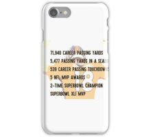 Peyton Manning Statistics Retirement iPhone Case/Skin