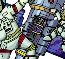 Spaceman and space cat Sticker