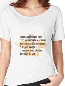 Peyton Manning Statistics Retirement Women's Relaxed Fit T-Shirt