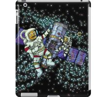 Spaceman and space cat iPad Case/Skin