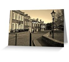 CATHEDRAL CLOSE EXETER DEVON Greeting Card